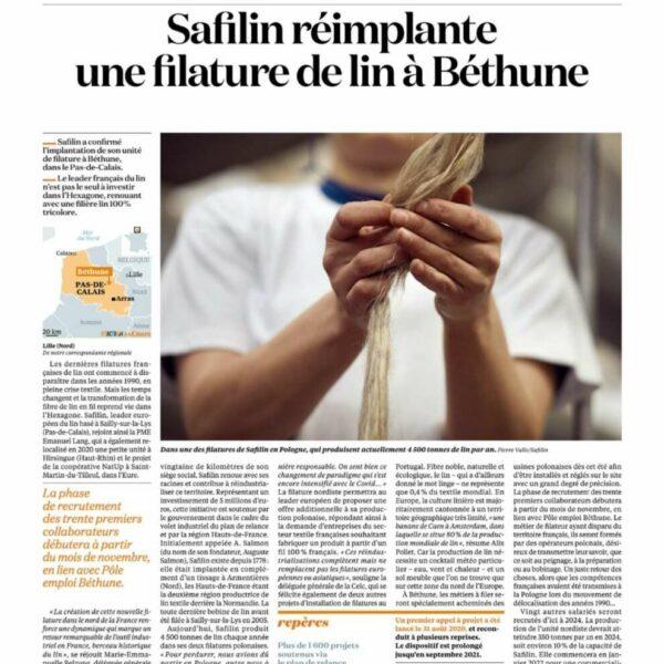 Safilin réimplante une filature de lin à Béthune