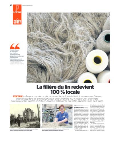 La filière du lin redevient 100% locale/Le Parisien/Safilin_1