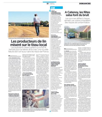 Les producteurs de lin misent sur le tissu lcoal / Le Parisien / Safilin