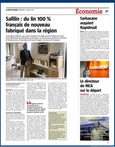 Safilin - du lin 100% français de nouveau fabriqué dans la région :VDN:Safilin