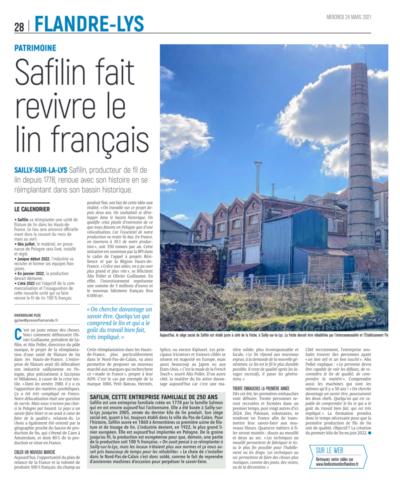 Safilin fait revivre le lin français /L'indicateur des Flandres/Safilin_1